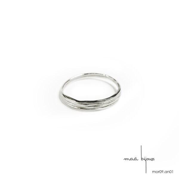 White gold wedding band Simple uni ring Men women