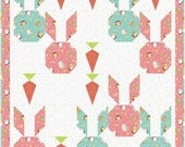 Bunny and Carrot Quilt Pattern - INSTANT DOWNLOAD