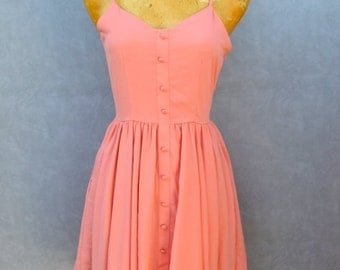 Peach Dress withUnique Back