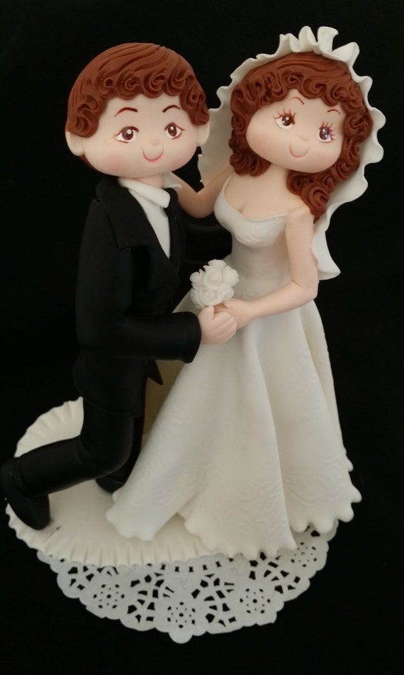 wedding cake topper personalized groom and bride unique wedding cake topper groom wedding figurine 26369