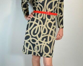 70s Secretary Dress// Brady Bunch Dress// Mod Dress