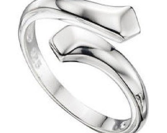 Simple Adjustable sterling silver thumb ring