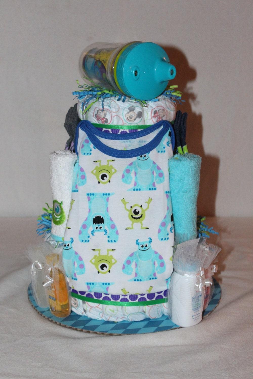 Monsters Inc Diaper Cake