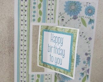 Handmade Floral Birthday Flip Card