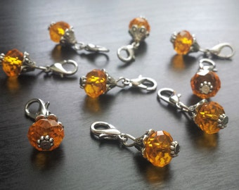 Yellow Crystal Dangle Charm for Floating Lockets, Necklaces, or Bracelets-Gift Idea