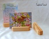 Simple Wood Postcard Holder ~ Nature Table Display ~ Verse Card Holder