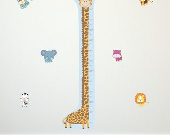 Giraffe Height Chart: Fabristick® Repositionable, Removable Fabric WALL STICKERS