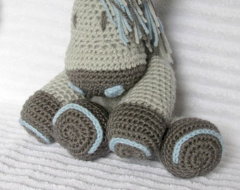 Crochet Horse Stuffed Animal, Crochet Animal, Crochet Doll, Blue Horse Stuffed Animal, Horse Plush, Horse Nursery, Horse Doll