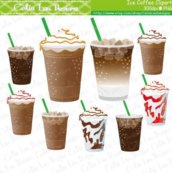 Iced Latte Clipart