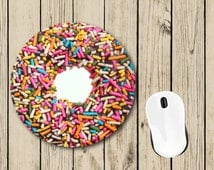 Donut Mousepad - Donut Gift - Cute Mousepad - Student Gift - College Dorm Decor - Teacher Appreciation Gift - Boss Gift - Birthday Gift