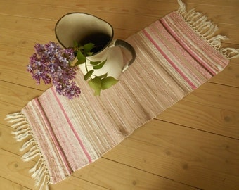 schwedische vintage lange rag teppich gewebt von textilesvintage. Black Bedroom Furniture Sets. Home Design Ideas