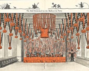 Vintage Halloween Dennison's Bogie Book decorations illustrations digital download printable image 300 dpi