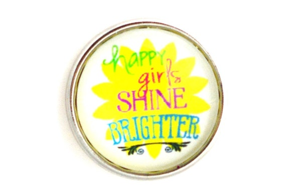 Aww Snap! Happy Girls Shine Brighter Interchangeable snap for 18mm Aww ...