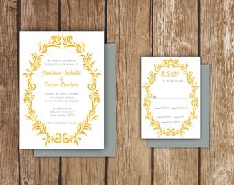 Wreath Wedding Invitation - A7 - Summer Wreath