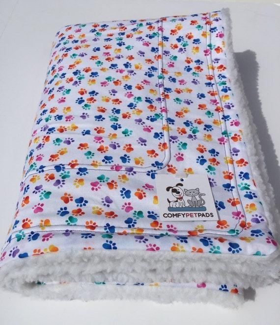 Pet Blanket Rainbow Dog Blanket Paw Print Blankets By