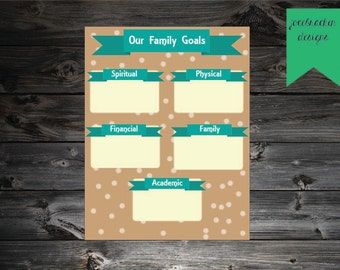 INSTANT DOWNLOAD: Family Goals Sheet