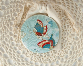 Chiyogami Pocket Mirror [3 Inches] #2