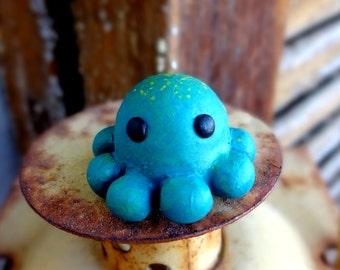 Mini Blue green Octopus
