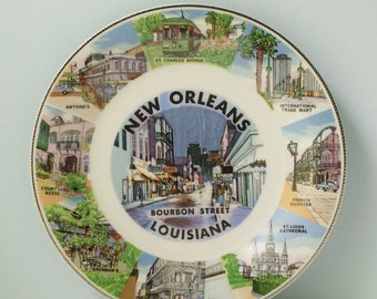 Souvenir Plate New Orleans Louisiana