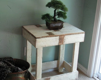SALE Rustic Farmhouse End Table