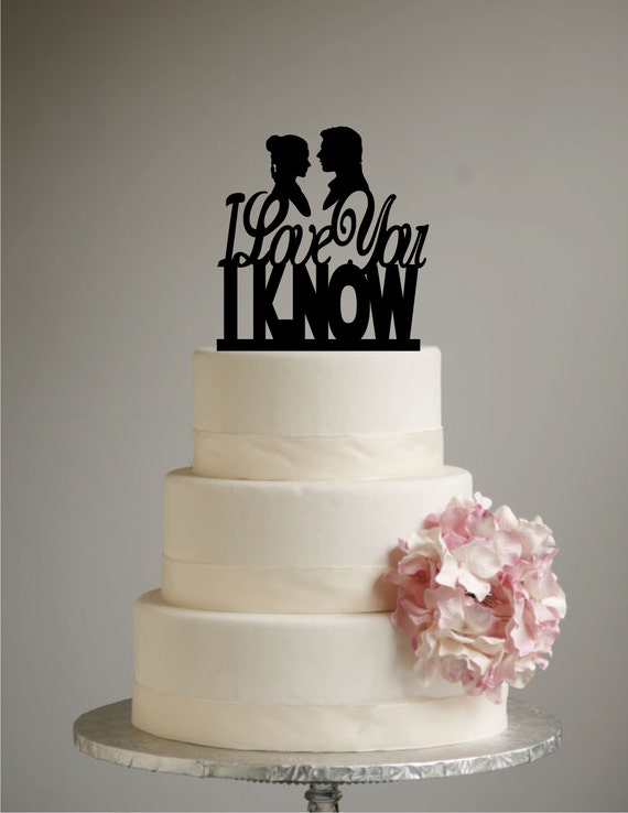 star wars wedding cake wars inspired wedding cake topper i you i 7677