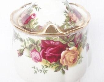 Preserve pot - Old Country Roses - Royal Albert jam marmalade conserve pot