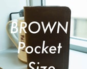 Brown Chromexcel/ White Thread Pocket Notebook Cover IN STOCK