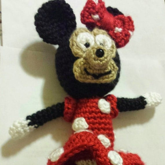 Minnie Mouse Doll Mickey Mouse stuffed animal Crochet Polka