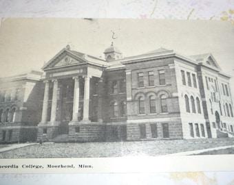 Concordia College, Moorehead, Minnesota  Antique View Postcard