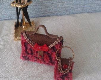 Set of miniature Dolls House bags
