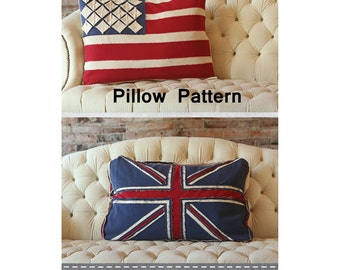 "Patriotic Pillow Pattern, American Flag Pattern & Union Jack Flag Pattern, IJ984CR Crossroads, Amy Barickman, 20"" x 26"""