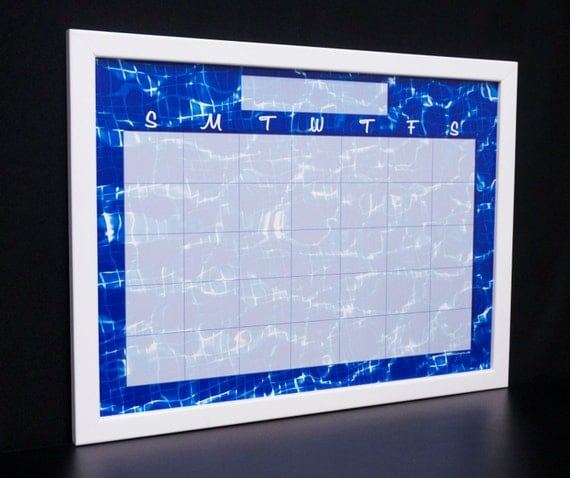 Items Similar To Framed Monthly Calendar Dry Erase Board