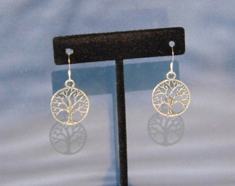 Tree of Life Sterling Silver Charm Earrings