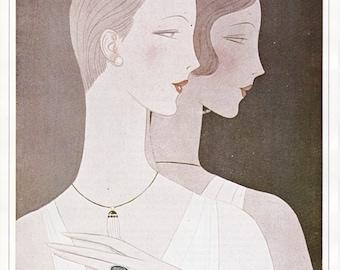 Vogue Magazine Cover 1926 art deco art nouveau home decor print fine art fashion vintage from 1981