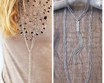 Silver boho necklace,tassel necklace,bohemian necklace,boho necklace,Long tassel necklace,silver necklace long,bohemian jewelry