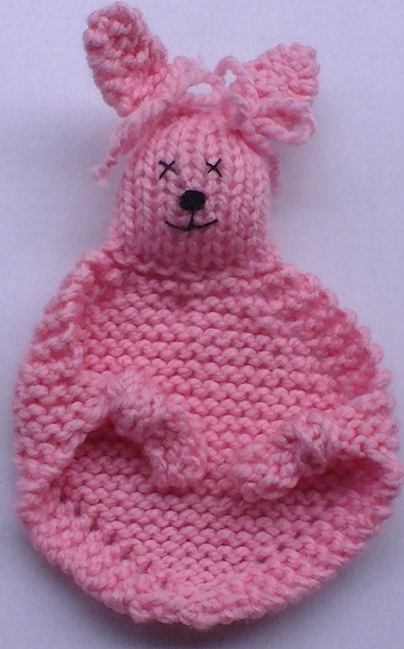 Knitting Pattern For Baby Snuggle Blanket : SALE Snuggle Bunny Blanket Buddy Lovey Security by jeanienineandme