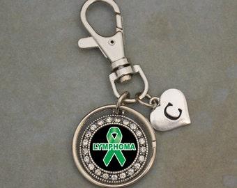 Custom Initial Lymphoma Awareness Keychain
