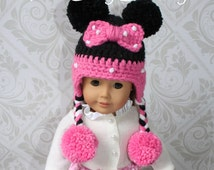 Minnie Mouse Hat PATTERN ONLY American Girl Doll Hat 18 inch Doll Bitty Baby Hat Disney Character Hat Disneyland
