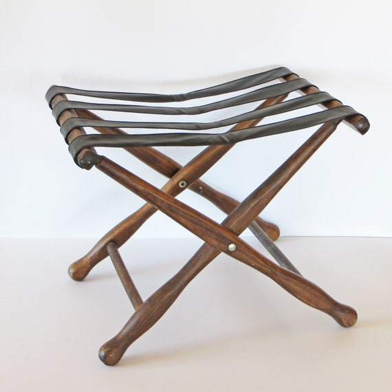 Vintage Luggage Rack Suitcase Stand Luggage Stand Hotel