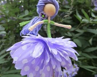 OOAK Flower Diva hanging doll