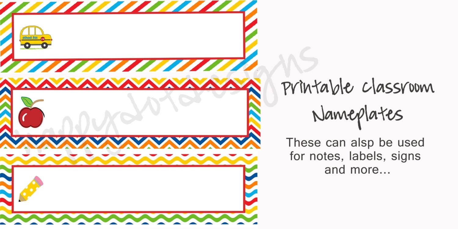 Printable Desk Name Plates For School Hostgarcia
