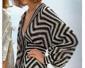 Crochet Pattern Vintage 70s Crocheted Caftan Dress-Crochet Dress Pattern-Bohemian Clothing-Boho Crochet Pattern-INSTANT DOWNLOAD