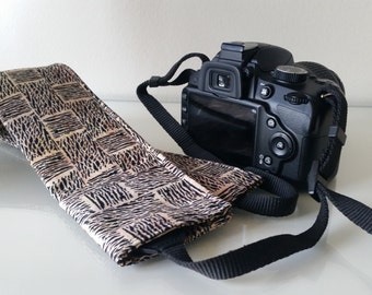 Tribal SLR Padded Camera Strap Covers with lens cap pocket