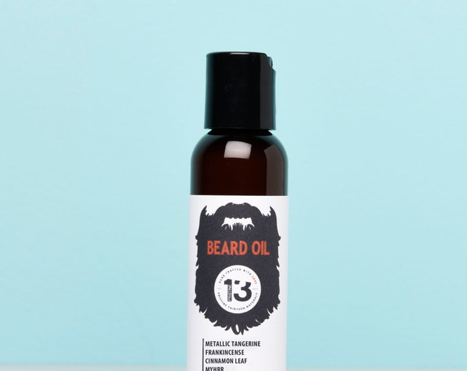Metallic Tangerine, Frankincense, Myrrh and Cinnamon Leaf Beard Conditioning Oil