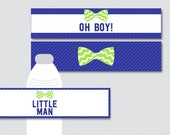 Bow Tie Water Bottle Labe...
