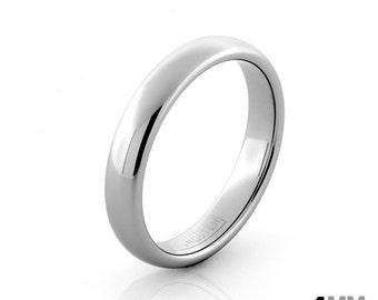 Silver Wedding Ring Women S Wedding Band Men S Ring Silver Tungsten Ring 4mm