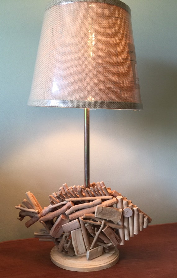 wooden fish nautical table lamp with rattan shade table lamp. Black Bedroom Furniture Sets. Home Design Ideas