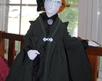 Minerva McGonagall OoaK thread-sculpted doll