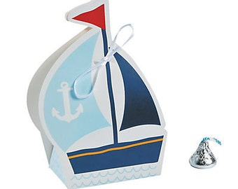 12/Nautical Baby Shower Favor Boxes