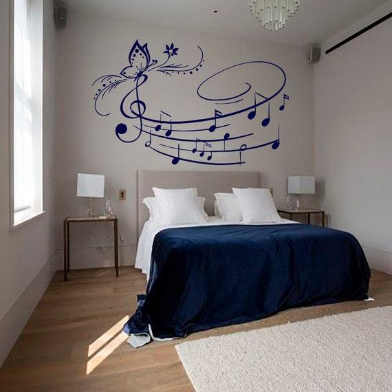 musical notes school studio home decor bedroom room art murals mn650